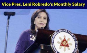 Vice President Leni Robredo's Salary