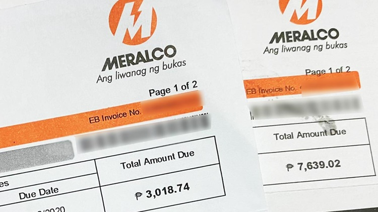 Meralco Electricity Bill