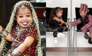Shortest Woman Living - Jyoti Kisanje Amge, Shortest Man Khagendra