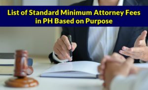 Standard Minimum Attorney Fees