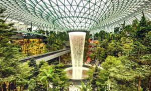 singapore man-made waterfalls