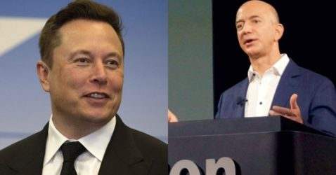 Tesla's Elon Musk, Amazon's Jeff Bezos