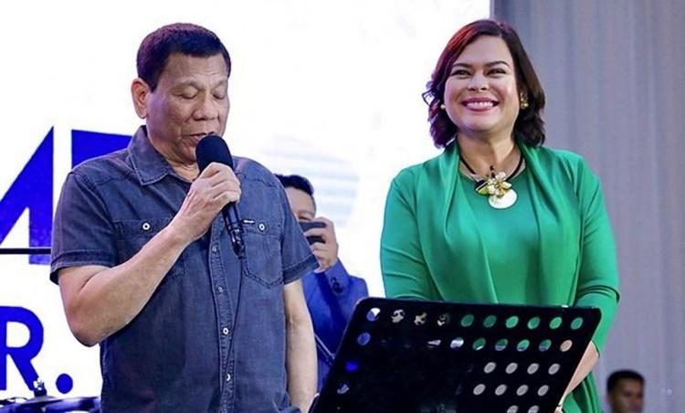 President Rodrigo Roa Duterte, Davao City Mayor Sara Duterte
