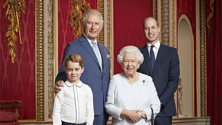 Queen Elizabeth, Prince Charles, Prince William, Prince George