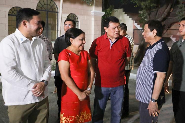 Manny and Cynthia Villar, President Rodrigo Roa Duterte