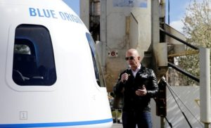 Amazon's Jeff Bezos in Blue Origin