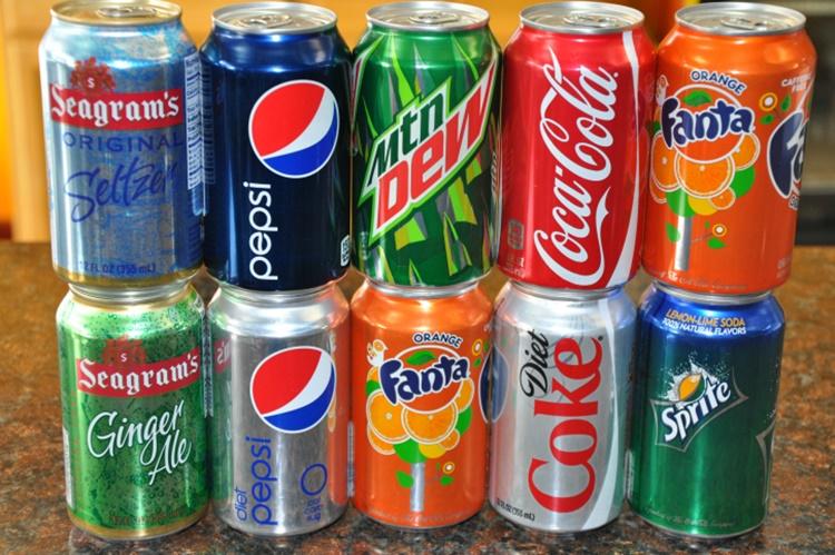 Softdrinks Coca-Cola, Pepsi