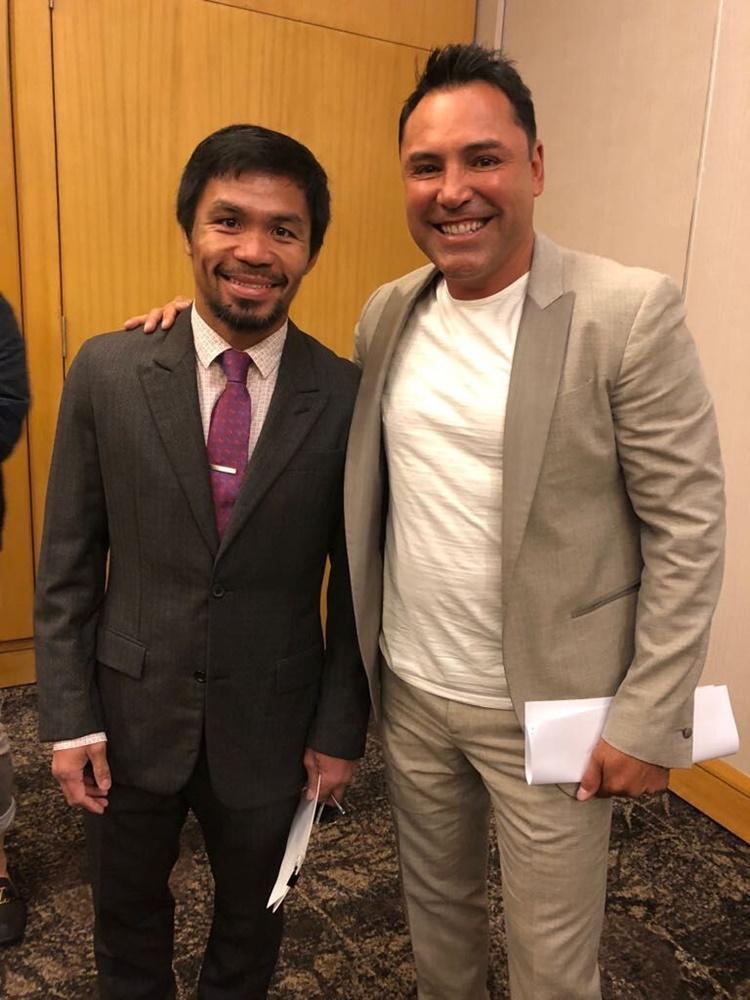 Manny Pacquiao, Oscar dela Hoya